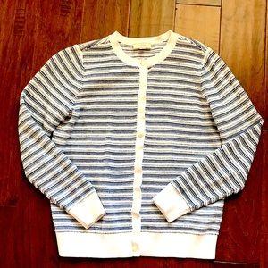 🌺 4/$25 sale Loft navy and white cotton cardigan